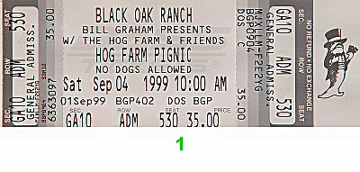 Mickey Hart &amp; Planet Drum1990s Ticket