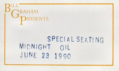 Midnight Oil Backstage Pass