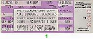 Mike Binder 1980s Ticket