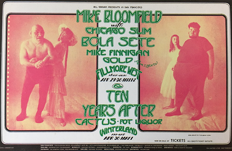 Mike Bloomfield Handbill