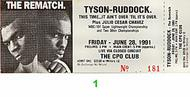 Mike Tyson 1990s Ticket