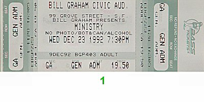 Ministry1990s Ticket