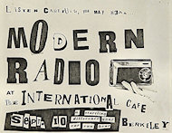 Modern Radio Handbill