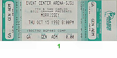 Morrissey 1990s Ticket