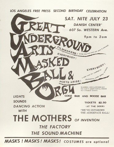 Mothers of InventionHandbill