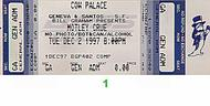 Motley Crue 1990s Ticket
