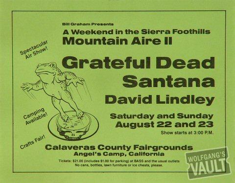 Mountain Aire Music Festival Handbill