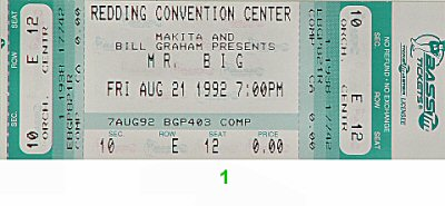 Mr. Big 1990s Ticket