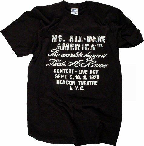 Ms. All-Bare America Women's Retro T-Shirt