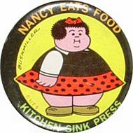 Nancy Eats Food Vintage Pin
