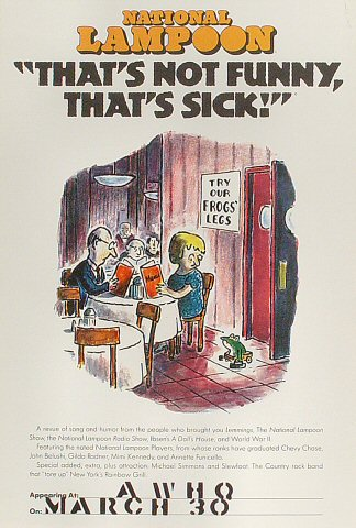 "National Lampoon ""That's Not Funny, That's Sick"" Poster"