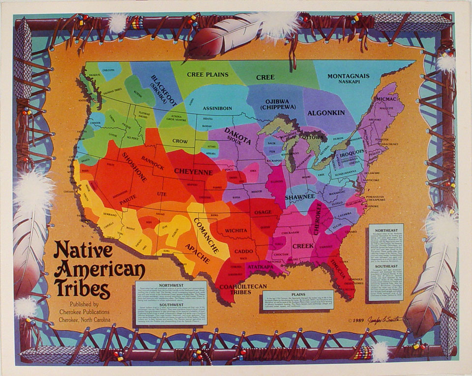 Native American Tribes Poster