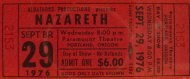 Nazareth Vintage Ticket