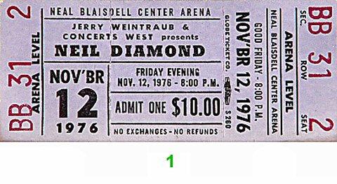 Neil Diamond1970s Ticket