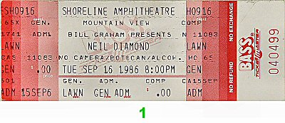 Neil Diamond1980s Ticket