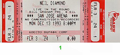 Neil Diamond1990s Ticket