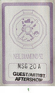 Neil Diamond Backstage Pass