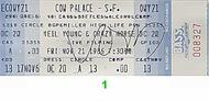 Neil Young & Crazy Horse 1980s Ticket