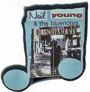 Neil Young & the Bluenotes Vintage Pin
