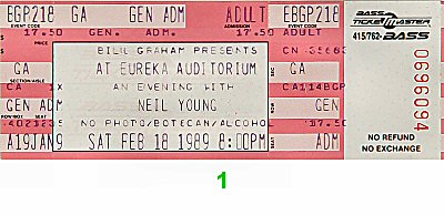 Neil Young & the Restless 1980s Ticket
