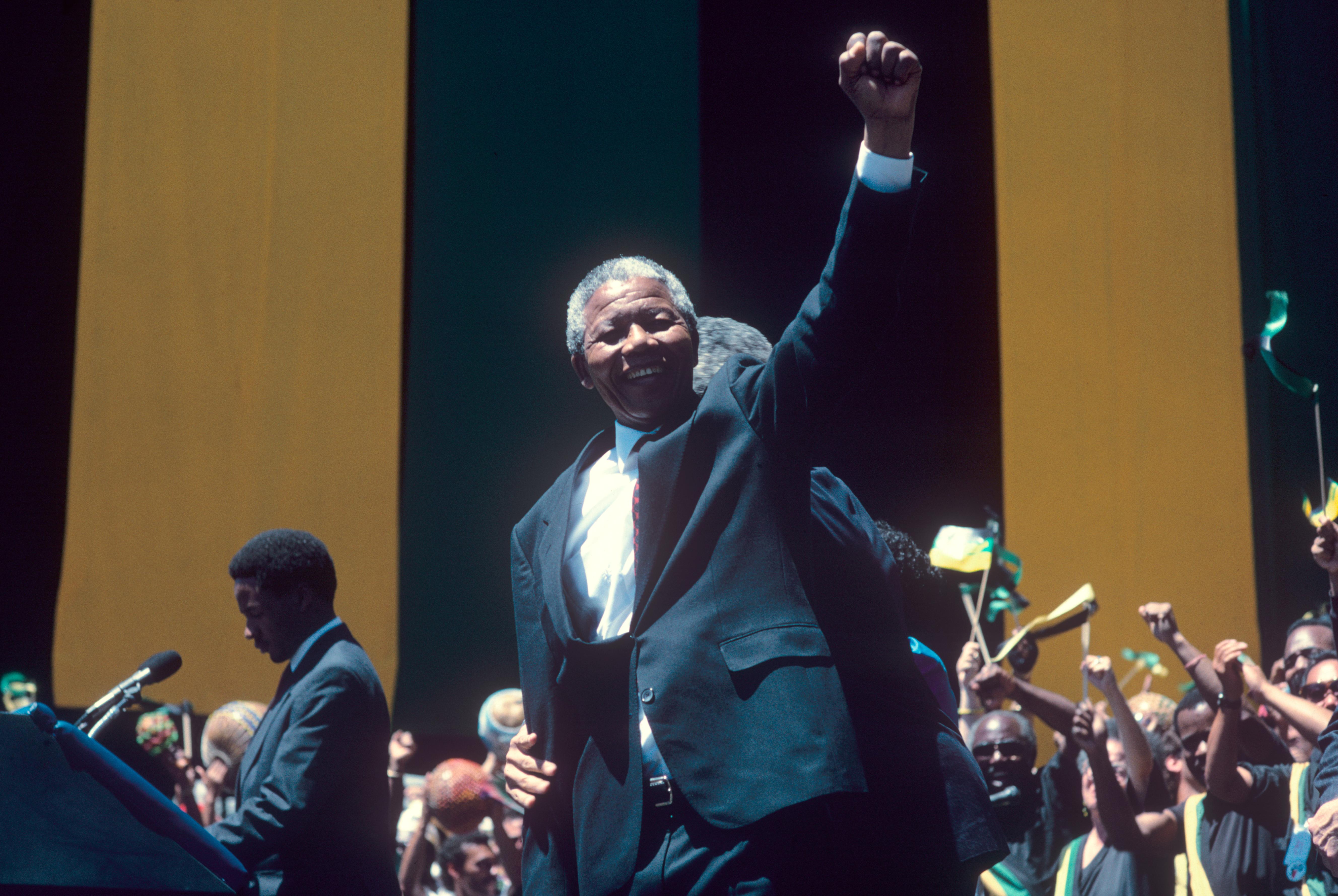 Nelson MandelaBG Archives Print