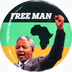Nelson MandelaVintage Pin