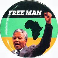 Nelson Mandela Vintage Pin