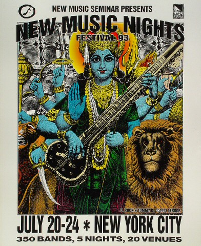 New Music Nights Festival '93 Poster
