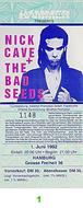 Nick Cave &amp; the Bad Seeds 1990s Ticket