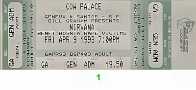 Nirvana 1990s Ticket