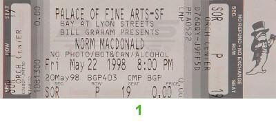 Norm MacDonald1990s Ticket