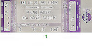 Oakland Raiders vs. New England Patriots Vintage Ticket