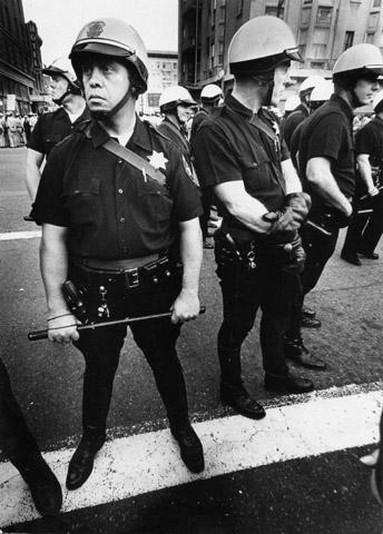 Oakland Riot PolicePremium Vintage Print