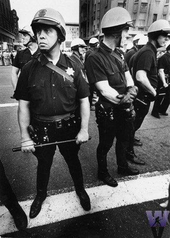 Oakland Riot Police Vintage Print