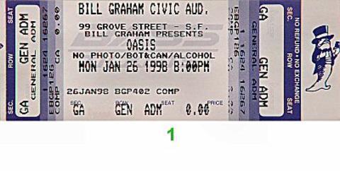 Oasis Vintage Ticket