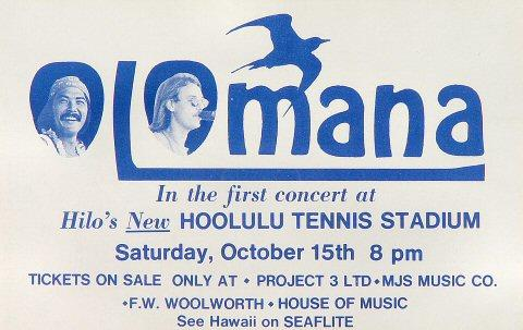 Olomana Handbill