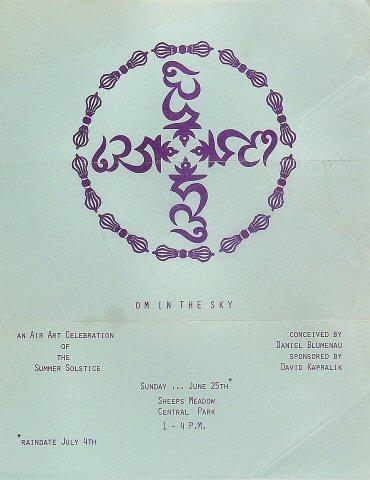Om in the Sky Handbill