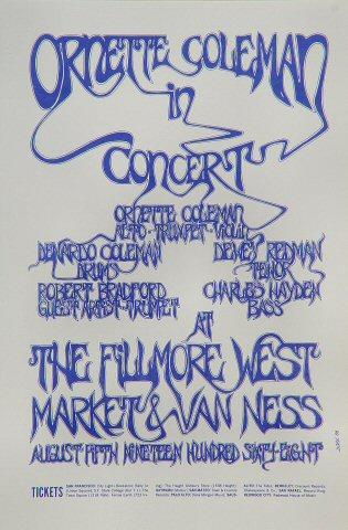 Ornette Coleman Handbill