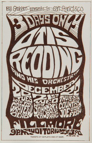 Otis Redding & His Orchestra Handbill
