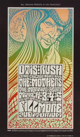 Otis Rush Chicago Blues Band Poster