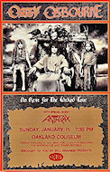 Ozzy Osbourne Handbill