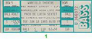 Paco de Lucia 1980s Ticket
