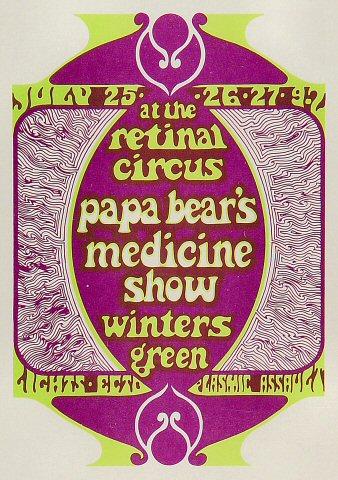Papa Bear's Medicine Show Postcard
