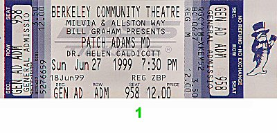 Patch Adams M.D.1990s Ticket