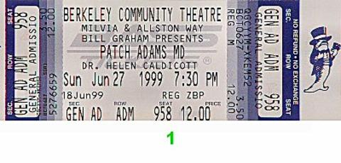 Patch Adams M.D. Vintage Ticket