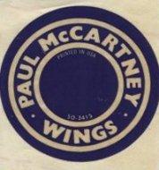 Paul McCartney & Wings Sticker