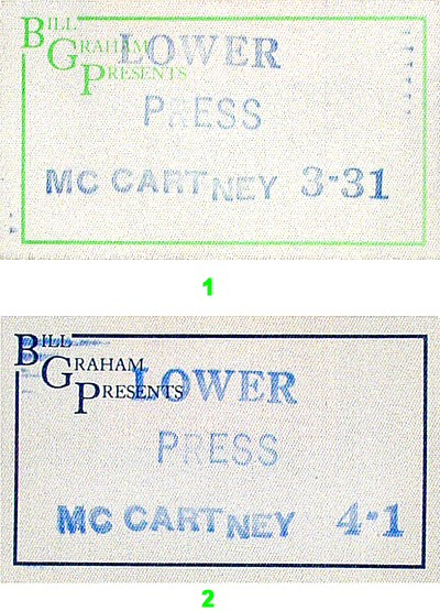 Paul McCartney Backstage Pass