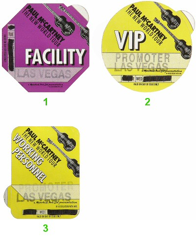 Paul McCartneyBackstage Pass