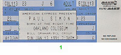 Paul Simon1990s Ticket