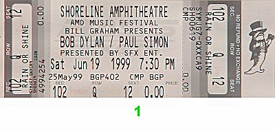 Paul Simon 1990s Ticket